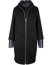 Herno Black Wool Coat