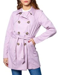 ONLY 15191821 Polyester Trench Coat - Pink