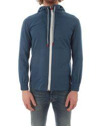 Kiton Cotton Sweatshirt - Blue