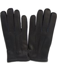 Merola Gloves Blue Leather Gloves