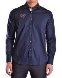 Etiqueta Negra Blue Cotton Shirt