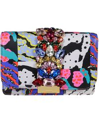Gedebe Multicolor Leather Pouch