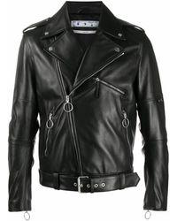 Off-White c/o Virgil Abloh New Logo Biker Jacket - Black