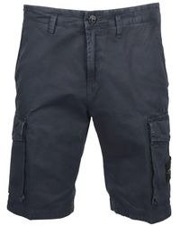 Stone Island - ANDERE MATERIALIEN SHORTS - Lyst