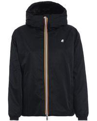 K-Way Polyester Outerwear Jacket - Black