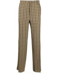 Fendi Pantaloni con stampa FF - Multicolore