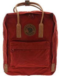 Fjallraven Red Polyester Backpack