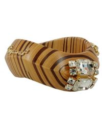 DSquared² - BRAUN ANDERE MATERIALIEN ARMBAND - Lyst