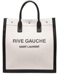 Saint Laurent Linen Briefcase - White