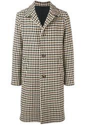 AMI - Beige Wool Coat - Lyst