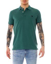 U.S. POLO ASSN. Green Cotton Polo Shirt