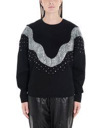 Isabel Marant Verzierter Pullover Valia aus Wolle - Schwarz