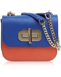 Tommy Hilfiger Multicolour Leather Shoulder Bag - Blue