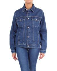 Calvin Klein Blue Cotton Jacket