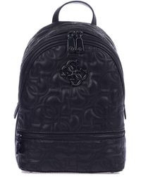 Guess Black Synthetic Fibres Backpack