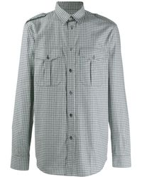 Givenchy Regular Fit Cotton Shirt With Square Patchwork - Multicolour