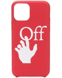 Off-White c/o Virgil Abloh Hands Logo Iphone 11 Pro Case - Red