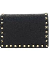 Valentino Garavani Leather Pouch - Black