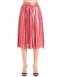 Pinko Fuchsia Polyester Skirt - Red