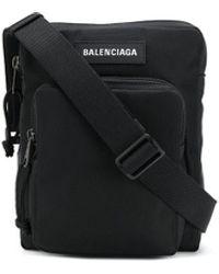 Balenciaga Black Synthetic Fibres Messenger Bag