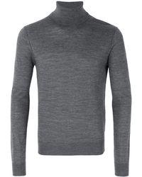 DSquared² Pullover Collo Alto In Lana - Grey