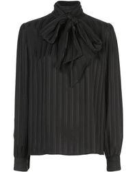 Saint Laurent Silk Blouse - Black