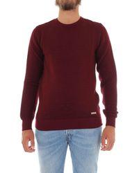 Alessandro Dell'acqua Burgundy Wool Sweater - Purple