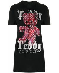 Philipp Plein Cotton Dress - Black