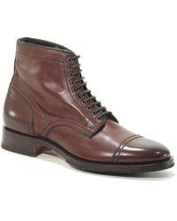 Santoni Mcnl16237uj1mglvb52 Leather Ankle Boots - Brown