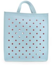 Coccinelle Leather Tote - Blue