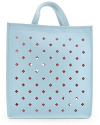 Coccinelle Light Blue Leather Tote