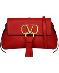 Valentino Red Leather Shoulder Bag