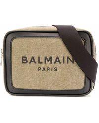 Balmain Fabric Messenger Bag - Natural