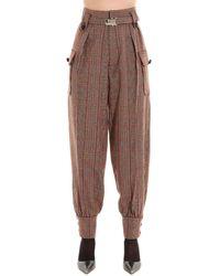 Miu Miu Red Wool Pants
