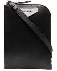 Givenchy Kuriertasche mit Logo-Patch - Schwarz