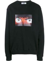 MSGM Cotton Sweater - Black