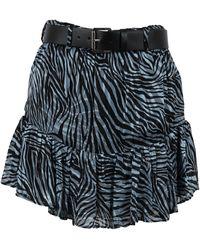 Michael Kors Mu1701r26j424 Silk Skirt - Black
