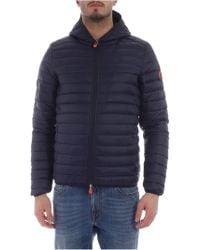 Save The Duck Blue Nylon Jacket