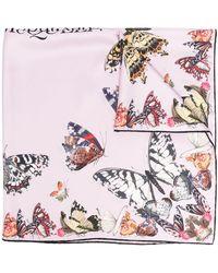 Alexander McQueen Butterfly Decay Seidenschal - Lila