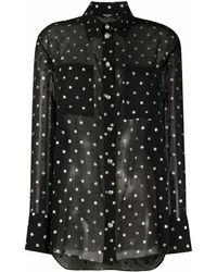 Balmain Polyester Blouse - Black