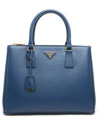 Prada Blue Leather Handbag