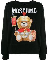 Moschino 'teddy Gladiatore' Sweatshirt - Black