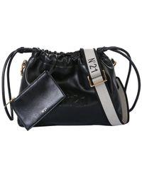 N°21 Polyurethane Shoulder Bag - Black
