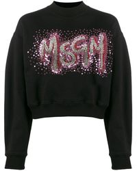 MSGM Black Cotton Sweatshirt