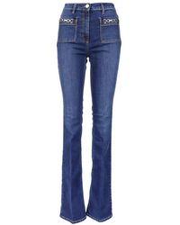 Elisabetta Franchi - Women's Pj01s11e2139 Blue Other Materials Jeans - Lyst
