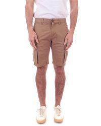 Sun 68 Cotton Shorts - Natural