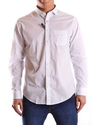 GANT Men's Mcbi131038o White/black Cotton Shirt