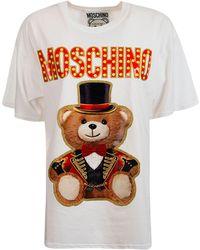 Moschino WEISS T-SHIRT - Mehrfarbig