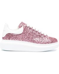 Alexander McQueen Oversized-Sneakers im Glitter-Look - Pink