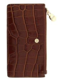 Borbonese Leather Card Holder - Brown